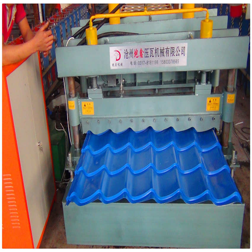 Galvanized Steel Glazed Tile Forming Construction Machine