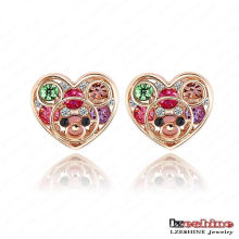 Austrian Crystal Heart Stud Dress Earring (ER0001)