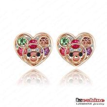 Austrian Crystal Heart Stud Dress Earring (ER0001)
