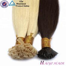 Лучшие продажи бразильского Виргинские волос Remy нарисованные двойником с толстыми концами кончик ногтя наращивание волос