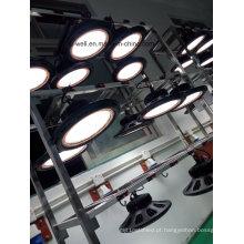 Diodo emissor de luz alto da luz da baía do diodo emissor de luz 100- 150W redondo para o armazém industrial