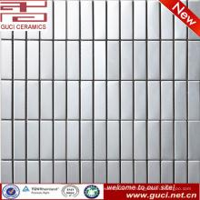 Carrelage mosaïque en acier inoxydable rectangle de haute qualité