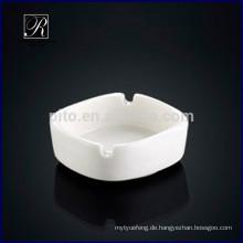P & T ROYAL WARE Großhandel Porzellan Quadrat Aschenbecher romantischen Keramik Aschenbecher