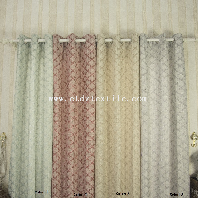 jacquard curtain dyed colors 6001