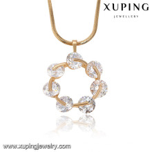32762 Xuping large pendants for jewelry making, saudi gold jewelry pendants