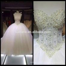 1A213 Robe de mariée en épaules douces au coeur doux et à la robe de mariée