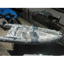 barco inflável de casco rígido de fibra de vidro