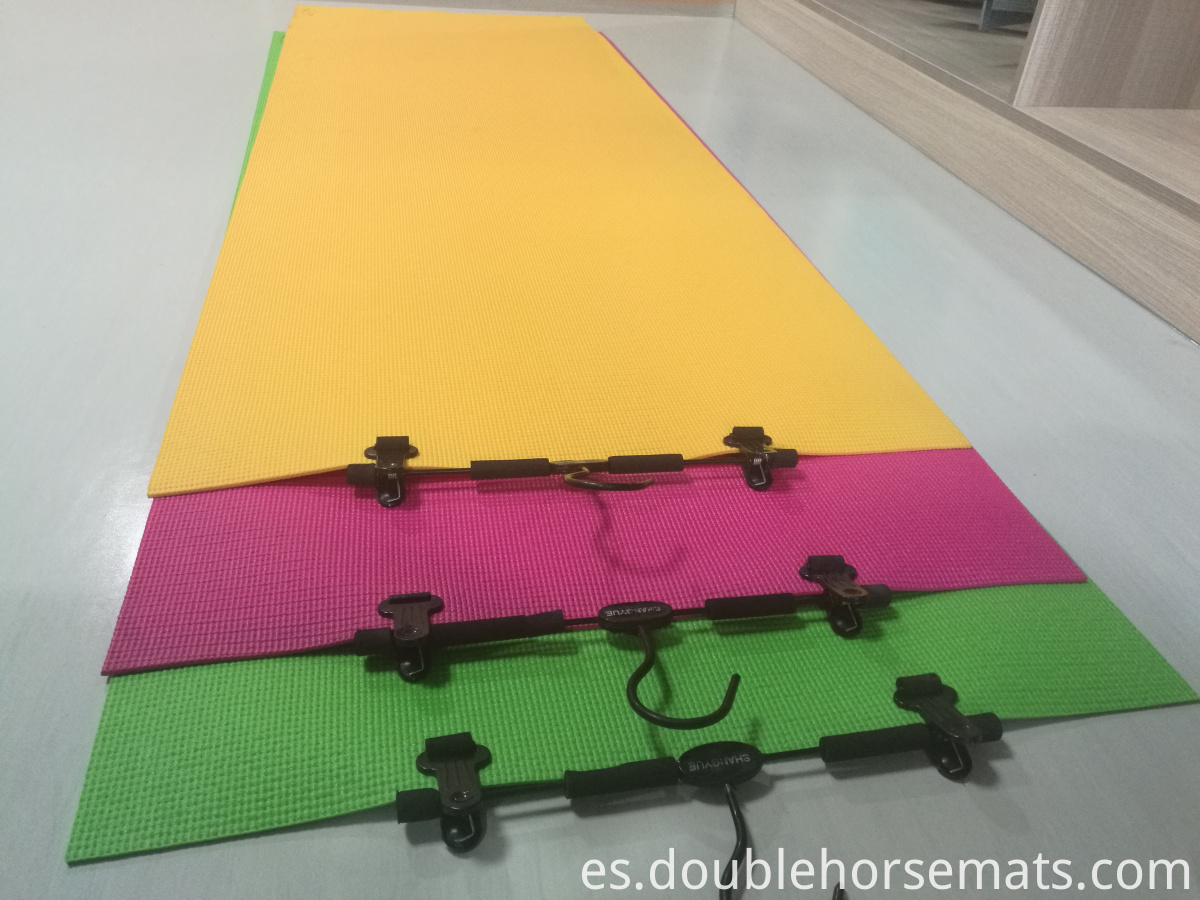 PVC material single color yoga mat