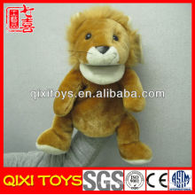 Cute mouth moving animal stuffed plush lion hand puppet