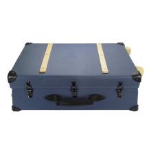 New Design Custom Vintage PU luggage trolley case With Wheels