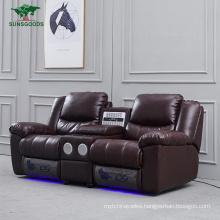 Genuine Leather Modern Leisure Living Room Sofa Comfortable Recliner Sofa Home Theater Furniture Set