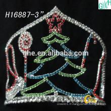Fashion Bridal Crown Wholesale Pageant Crowns et belle couronne d'arbre de Noël