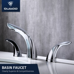 Dual Handles Water Taps Brass Basin Faucet