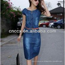 13CD1145 Blue Denim neuesten Kleid Designs für Damen