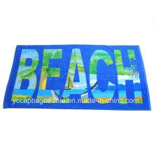 100% хлопок реактивный печатный высокого качества пляжное полотенце