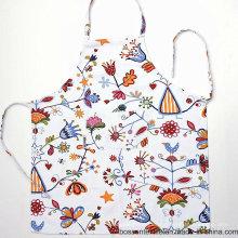 Patrón de flores floral de encargo de la impresión del algodón que cocina el delantal del babero de las mujeres
