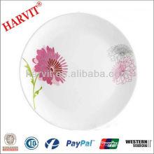 2013 Placa de cristal redonda del nuevo diseño de la flor del ópalo