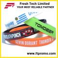 Großhandelsreines Farben-Silikon Wristband mit Ihrem Logo