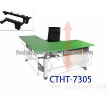 Villejuif L altura da forma mesa ajustável por alça manivela & Beauvais executivo L forma mesa de levantamento e Hyeres ajustável trest
