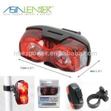 2pcs 1W LED batteriebetriebenes LED-Fahrrad-Licht