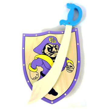 FQ marca espada de madera niños niños madera juguete escudo