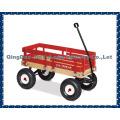 Wooden baby kids children wagon cart four wheels can folding