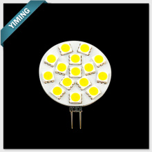 G4 LED Light 2.5W 15pcs 5050SMD Round 210-250LM