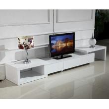 Soporte de TV plano con gabinete de estantes