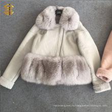 OEM оптовой моды женщин зимой куртки Короткие кожаные куртки пальто шерсти