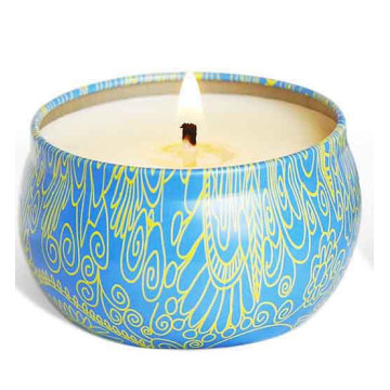 Vela de lata de cera de soja velas de ouro