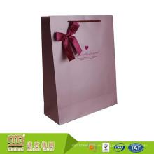 China fabrica la bolsa de papel modificada para requisitos particulares del uso industrial de lujo al por mayor de las compras con las manijas