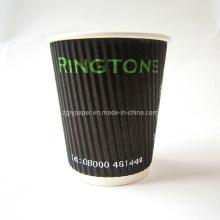 Vertical Ripple pared de papel de café accesorios de la taza (rwpc-28)