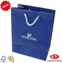 Bolsa de papel con relieve de la joyería con la cuerda de los PP