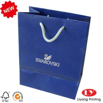 Embossing Jewelry Paper Bag com corda de PP