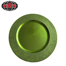 Cobble Pattern Plastic Plate with Metallic Finish