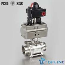 Stainless Steel Sanitary Pneumatic Encapsulated Ball Valve