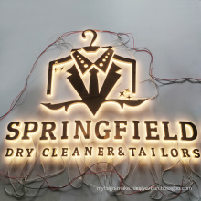 Mirror Finished Plating Stainless Steel   Backlit Letter Channel Illuminated Letter Sign