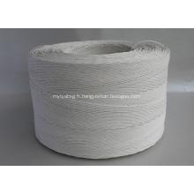 rouleau de corde de papier tordu de couleur blanche