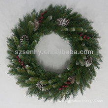 PVC Artificial red berries Christmas wreath