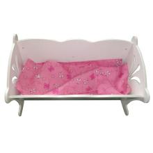 Meubles de lit de poupée de balançoire en bois de vente chaude avec le coussin pour des enfants et des enfants