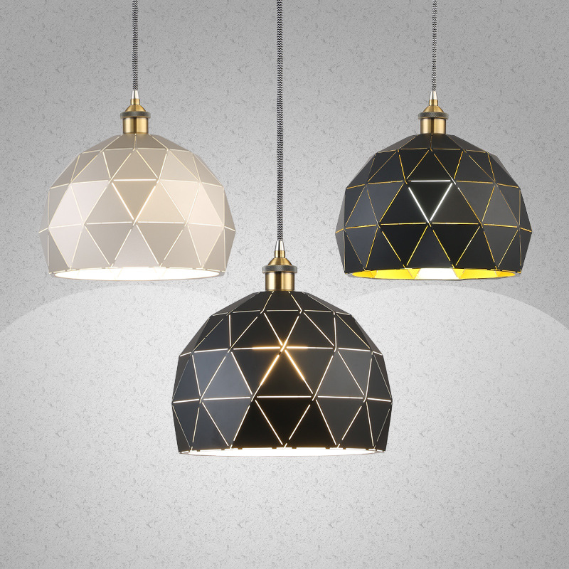 Classical Black Pendant Light With Bulb