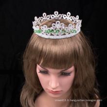Fleur design femme tiara couronne strass charmante