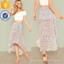 Рюшами бязь низким подолом юбки Производство Оптовая продажа женской одежды (TA3087S)