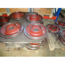 Grinding , polishing water pump covers cast iron rear cover