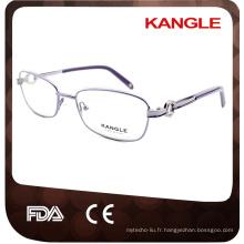 Lunettes optiques de femmes, lunettes en métal de charnière populaires