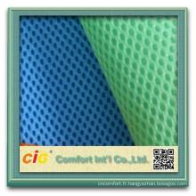 2015 qualité 100% polyester 3d entretoise air mesh tissu pour housse de siège de voiture, matelas, coussin