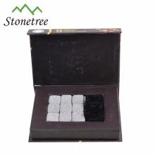 Accessoires naturels adaptés aux besoins du client uniques de barre en pierre de barre de pierre de whiskey de lave