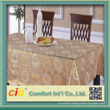 China High Quality Golden PVC Table Cloth