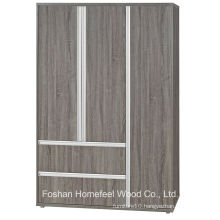 3D Finish Wooden Bedroom 3 Door Combination Wardrobe (WB76)