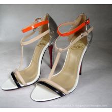2016 nouveaux sandales d'été de dames à talons hauts (HCY02-1184)